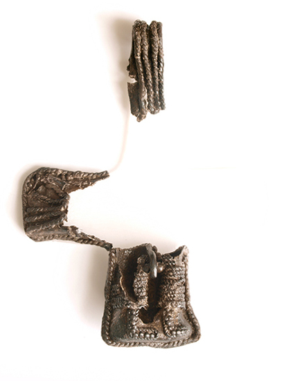 Fragmentary crucifix from a wagon burial at Ketting on Als, Denmark.