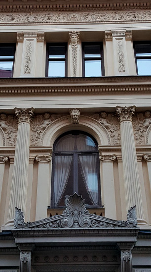 Stucco artist  Axel Notini advertised his skills on the facade of his Stockholm home in 1883.